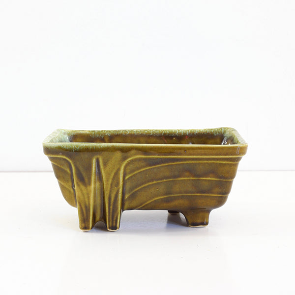 Vintage Avocado Green Cookson Pottery Planter
