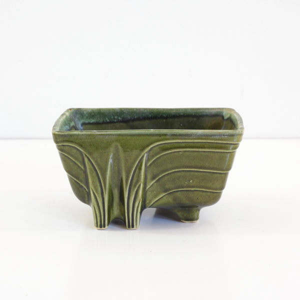 SOLD - Vintage Mossy Green Cookson Pottery Planter