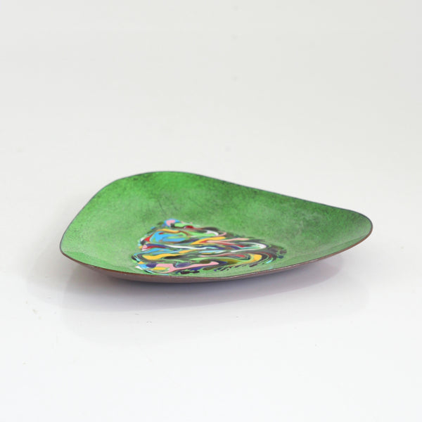 SOLD - Mid Century Modern Enameled Copper Dish