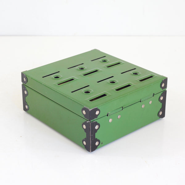 SOLD - Vintage 1950s Metal Home Budget Bank Box in Green