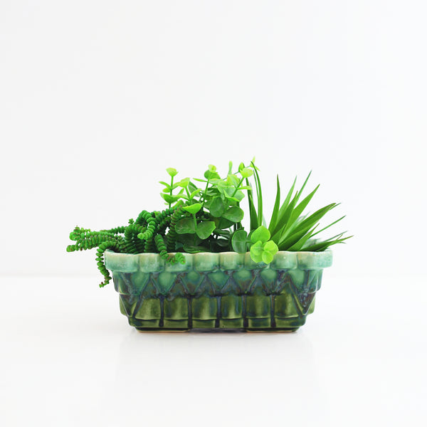 SOLD - Vintage Green Ombre Upco Planter