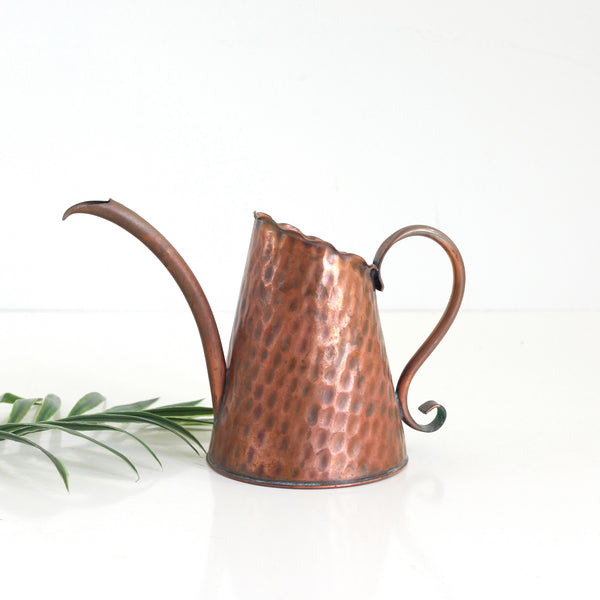 Vintage Hammered Copper Watering Can