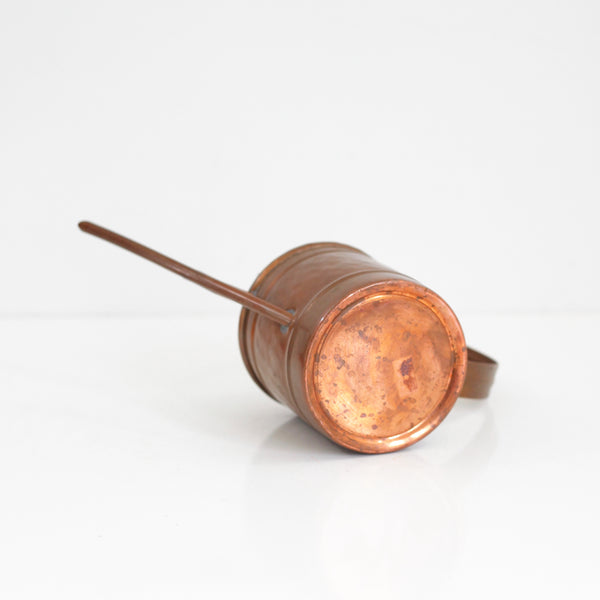 SOLD - Vintage Hammered Copper Watering Can