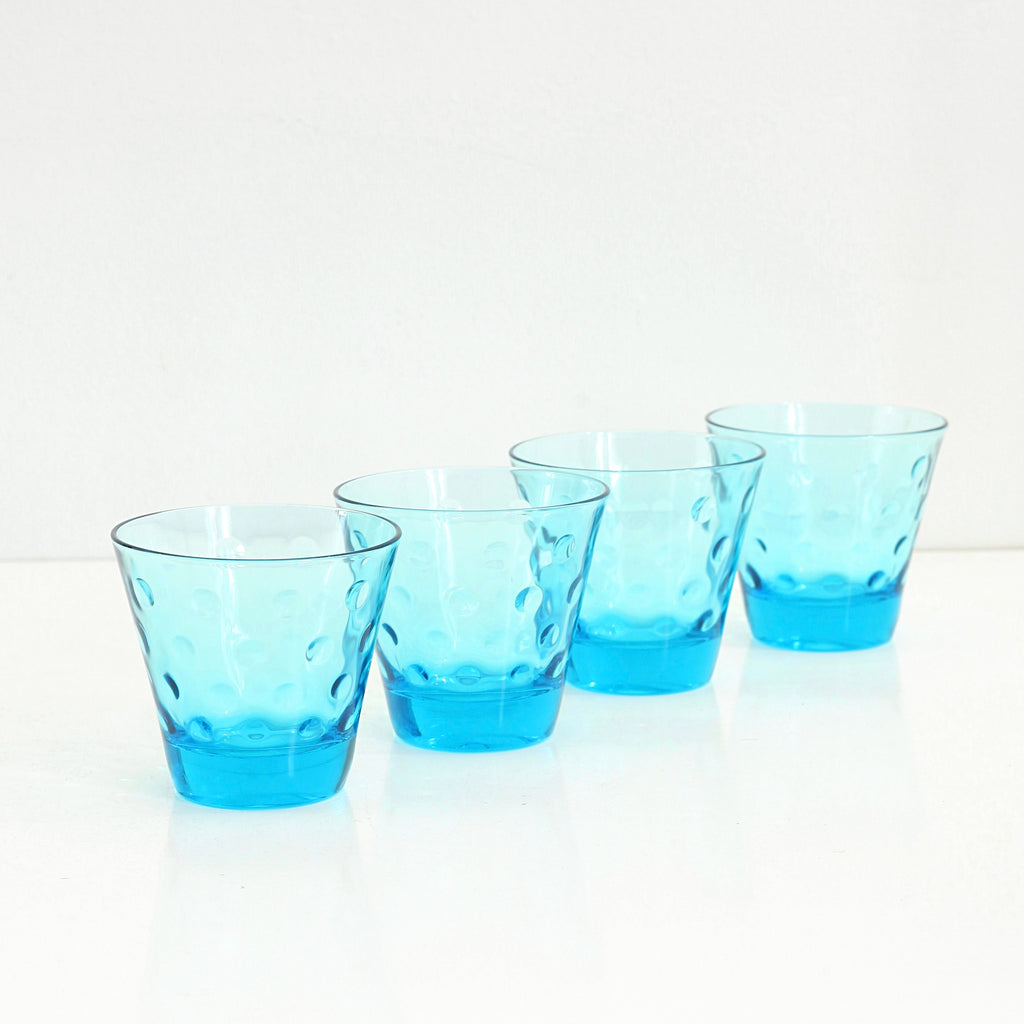 SOLD - Mid Century Modern Capri Polka Dot Glasses by Hazel Atlas