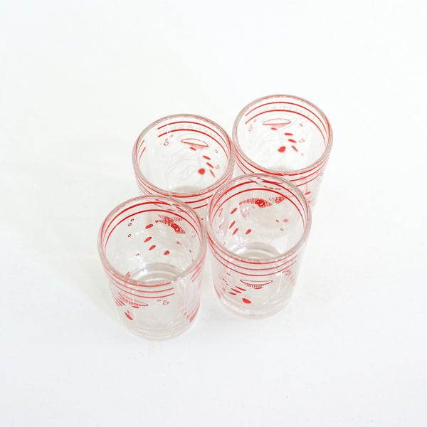 Vintage 1930s Hazel Atlas 'To Your Health' Cocktail Glasses