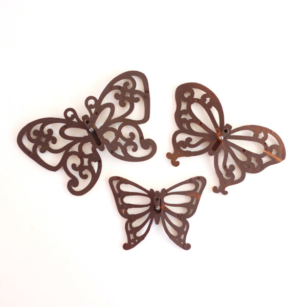 SOLD - Vintage Butterflies Wall Decor by Homco