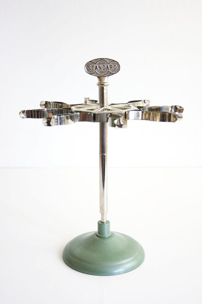 SOLD - Vintage Industrial Metal Stamp Stand / Photo Display
