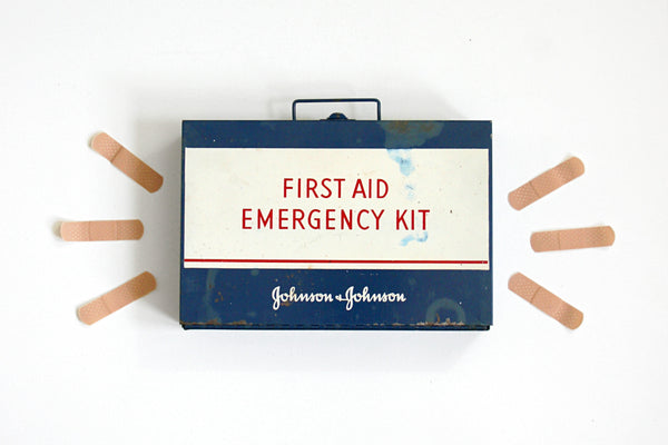 SOLD - Vintage Johnson & Johnson First Aid Emergency Kit