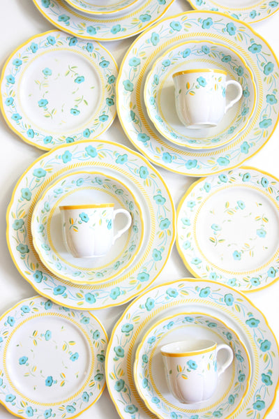 SOLD - Vintage 1950s French Dinnerware Set / K & G Badonviller Faience de France Lunéville