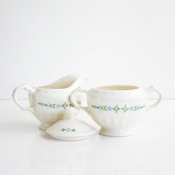 SOLD - Vintage Dolly Madison Cream and Sugar Set by Knowles / Mid Century Serving
