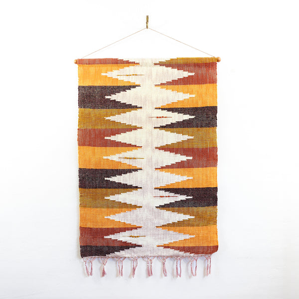 SOLD - Large Vintage Handwoven Wall Hanging