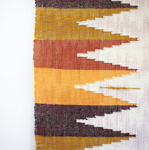 Large Vintage Handwoven Wall Hanging