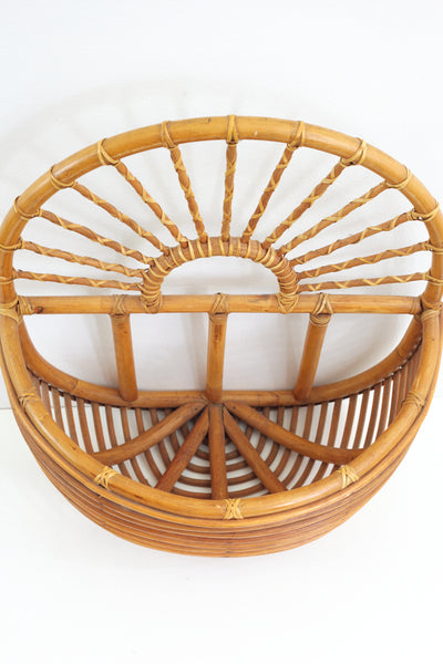 Vintage XL Rattan Wall Basket