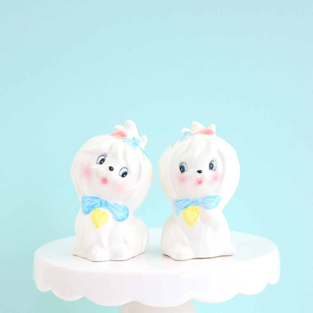 Vintage Lefton Mr. Toodles Salt & Pepper Shaker Set