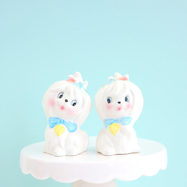 SOLD — Vintage Lefton Mr. Toodles Salt & Pepper Shaker Set