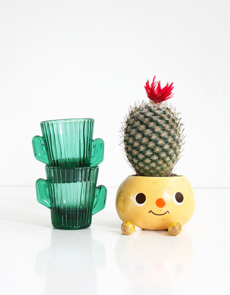 Vintage Cactus Shot Glasses by Libbey