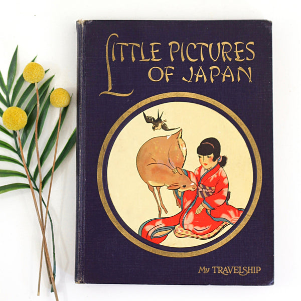Vintage 1920s 'Little Pictures of Japan' Hardcover Book