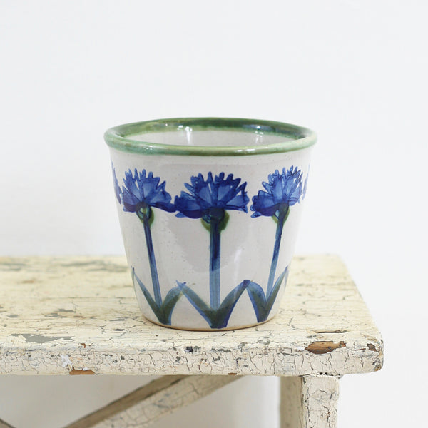 SOLD - Vintage Louisville Stoneware Cornflower Planter