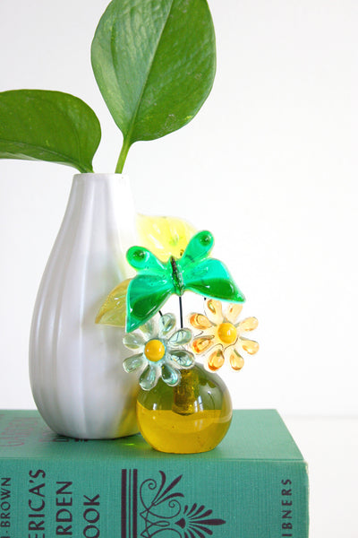 Colorful Vintage Lucite Flower Sculpture