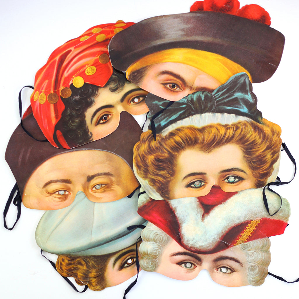 SOLD - Vintage Madame Tussaud's Victorian Replica Face Masks *FREE US Shipping*