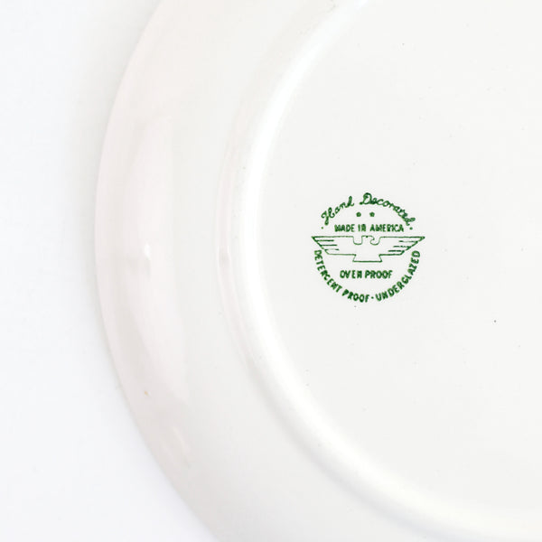 SOLD - Vintage 1950s Swiss Alpine Dinner Plates