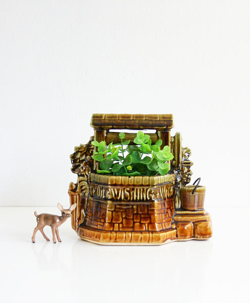 SOLD - Vintage McCoy Wishing Well Planter / Plant Pot