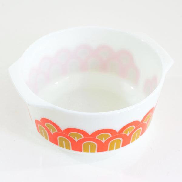 SOLD - Vintage Mod Arches Promotional Pyrex Mixing Bowl