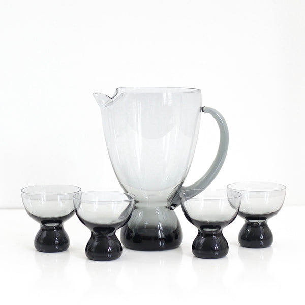 Mid Century Modern Morgantown Glass Cocktail Set