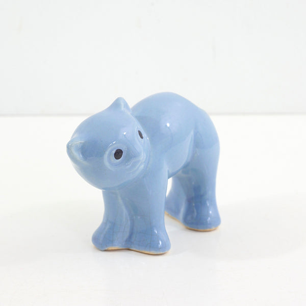 SOLD - Vintage 1940s Morton Pottery Cat Planter / Periwinkle Blue Ceramic Cat Vase