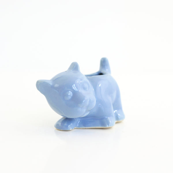 SOLD - 1940s Morton Pottery Blue Dog Planter