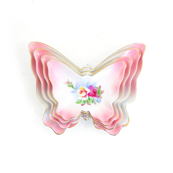 SOLD - Vintage Nesting Butterfly Dishes
