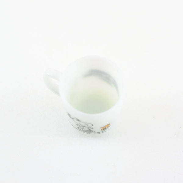 SOLD - Vintage 1965 Peanuts Milk Glass Mug - At Times Life is Pure Joy!
