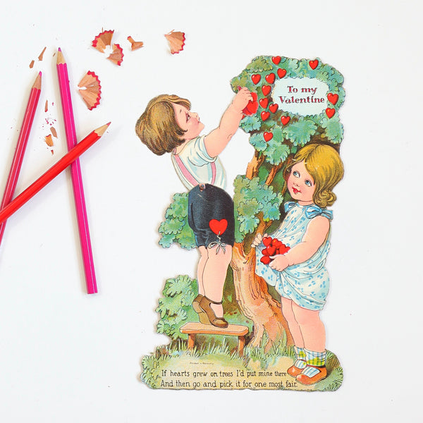 Antique Mechanical Valentine from Germany // To My Valentine