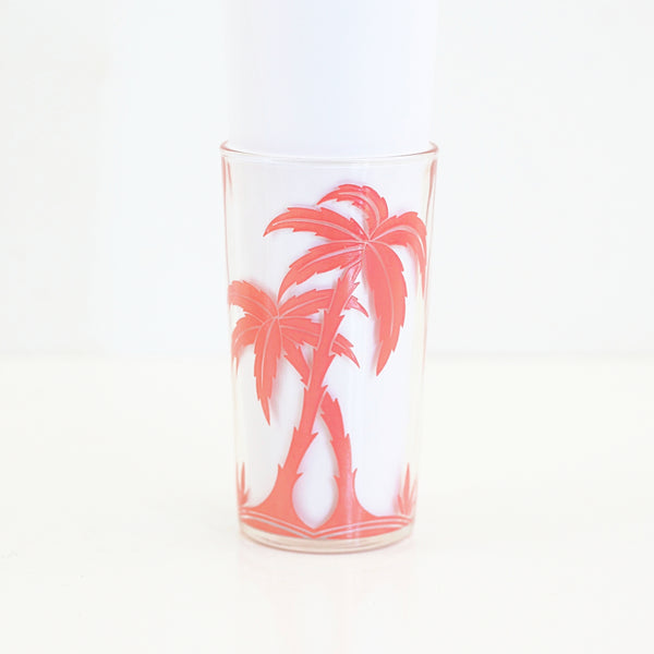 SOLD - Vintage Pink Palm Tree Glasses