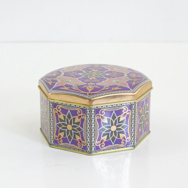 SOLD - Vintage Purple Art Nouveau Tin from Brazil