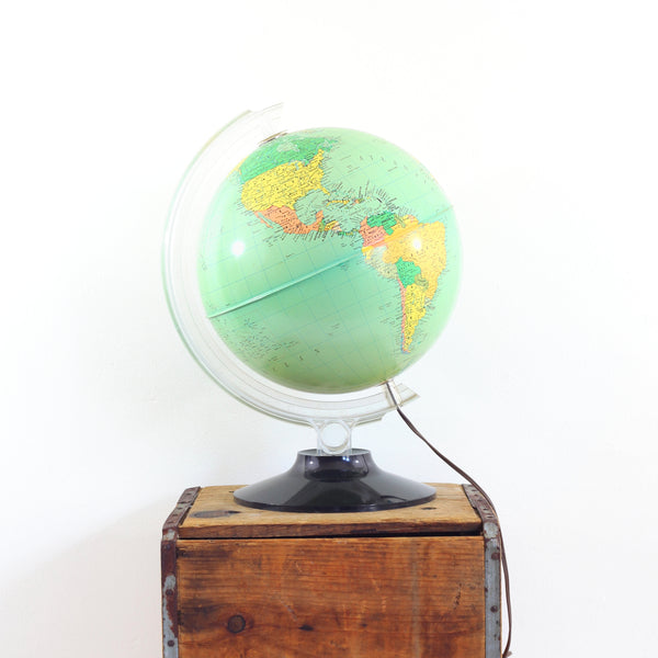SOLD - Mid Century Light-Up Globe