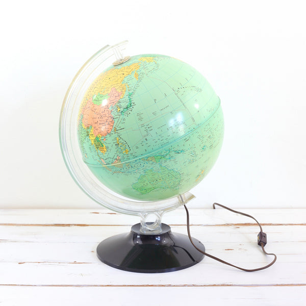 Mid Century Light-Up Globe