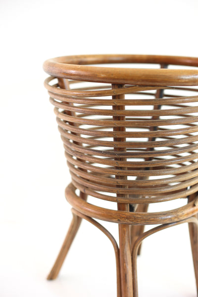 Vintage Rattan Plant Stand