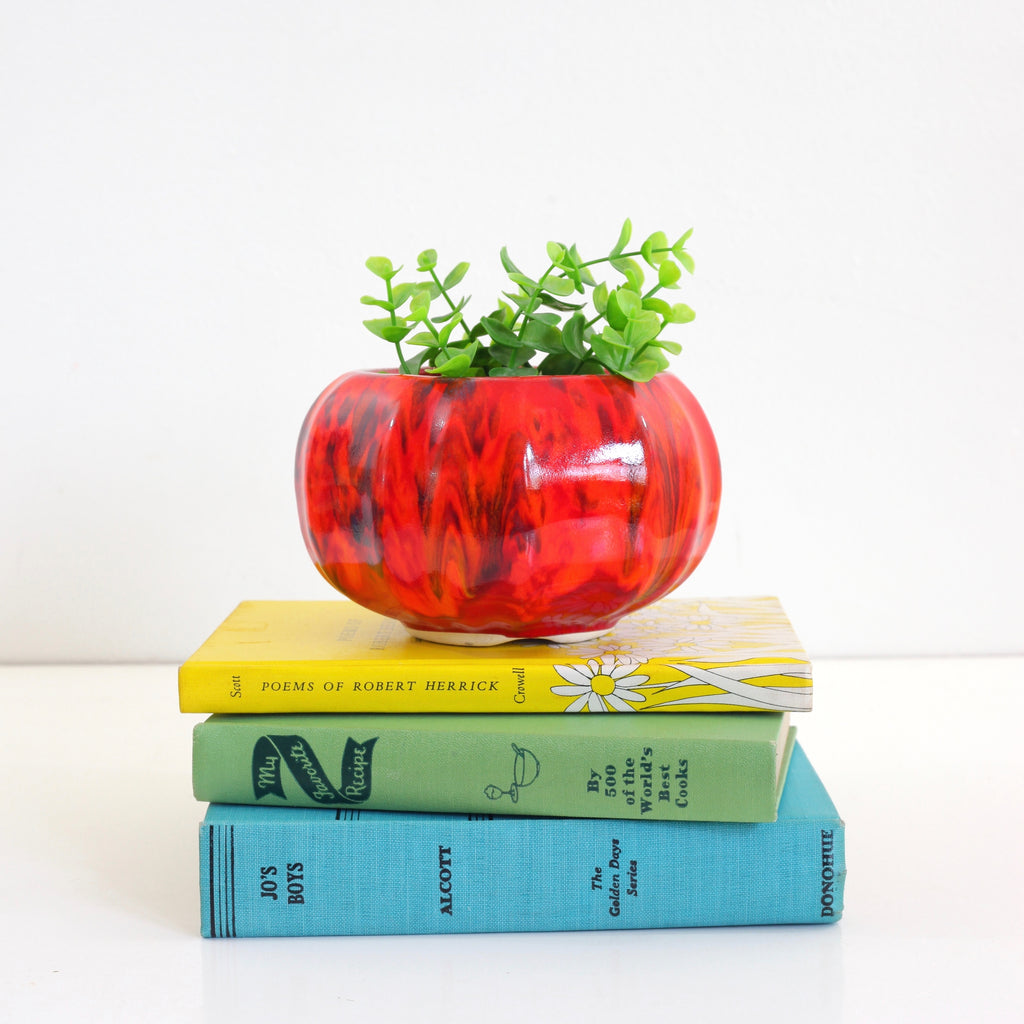 Mid Century Red California Pottery Planter