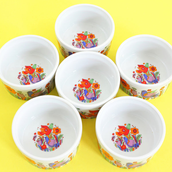 Mid Century Mod Royal Crown Porcelain Ramekins