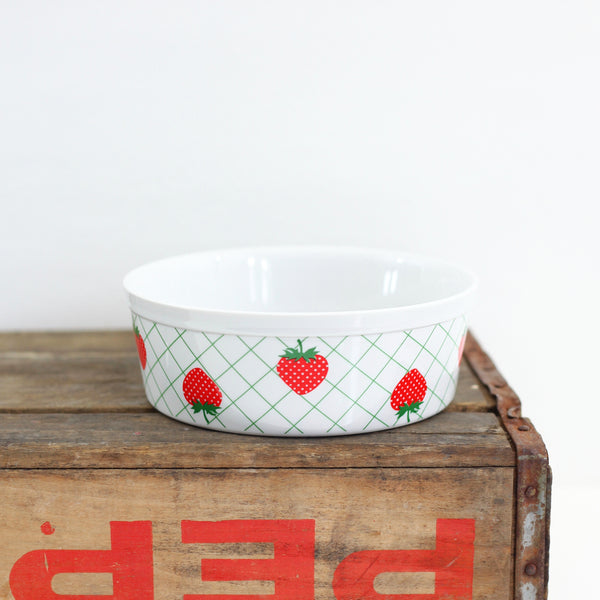 Vintage Strawberry Soufflé Dish