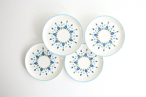 Mid Century Swiss Alpine Bread and Butter Plates by Marcrest / Vintage Swiss Chalet Plates