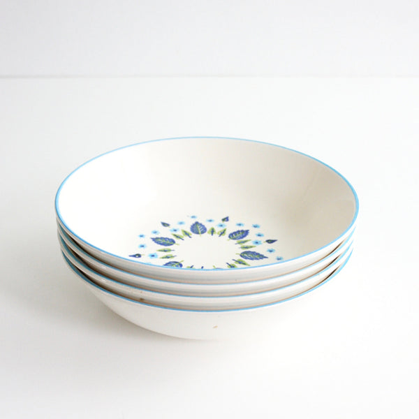 SOLD - Mid Century Swiss Alpine Cereal Bowls by Marcrest / Vintage Swiss Chalet Bowls