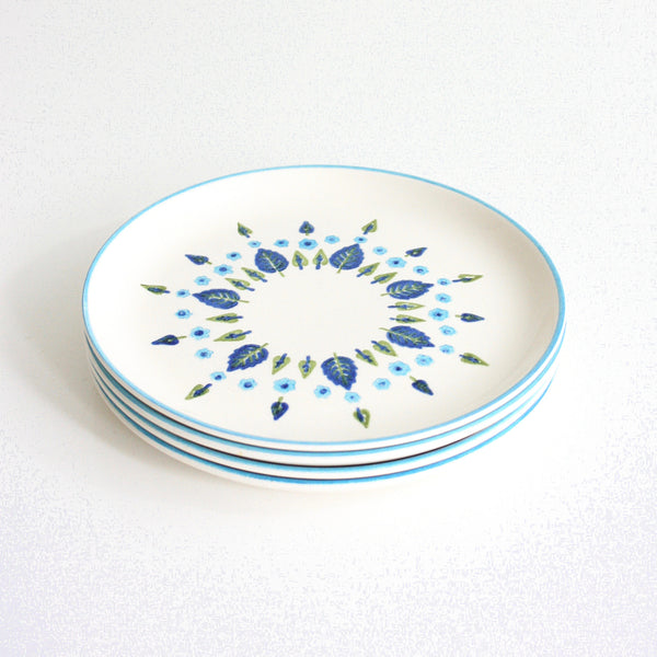 SOLD - Mid Century Swiss Alpine Bread and Butter Plates by Marcrest / Vintage Swiss Chalet Plates