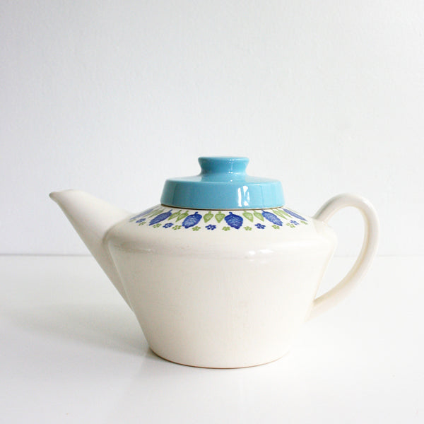 SOLD - Vintage Swiss Alpine Teapot / Mid Century Swiss Chalet Teapot by Marcrest / Vintage Ceramic Tea Pot