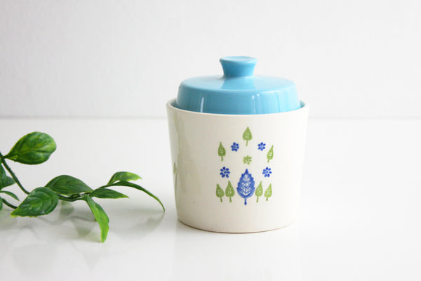 SOLD - Vintage Swiss Alpine Sugar Bowl / Mid Century Swiss Chalet Sugar Bowl with Lid
