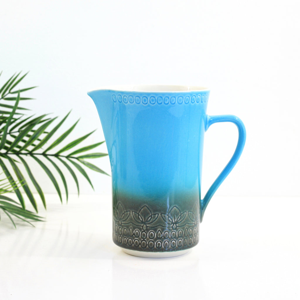SOLD - Mid Century Syracuse Carefree Calypso Pitcher in Aruba