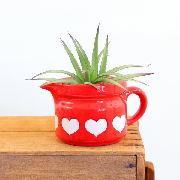 SOLD - Vintage Waechtersbach Red Heart Cream Pitcher
