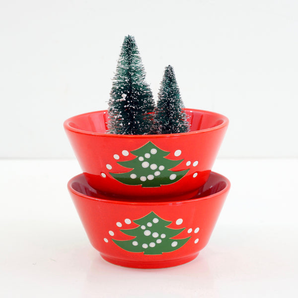 SOLD - Vintage Waechtersbach Western Germany Christmas Tree Cereal Bowls