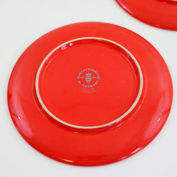 SOLD - Vintage Waechtersbach Western Germany Christmas Tree Lunch Plates